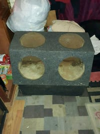 two brown wooden subwoofer enclosures Shawnee, 74801