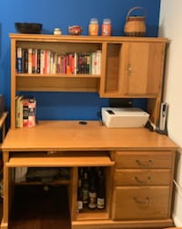 Solid Oak desk and removable book shelf GERMANTOWN