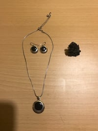 NECKLACE EARRINGS BLACK