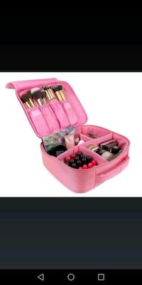 Brand new: Makeup Travel Bag by UP&GLO   3-in-1 Makeup Brush Case Bag