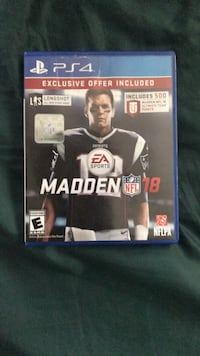 Madden NFL 18 PS4 game case Palm Coast, 32137