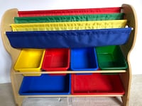 blue, red, and green toy organizer Allendale, 07401