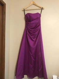 Alfred Angelo Full Lenght Strapless Dress - Size 8 Victoria