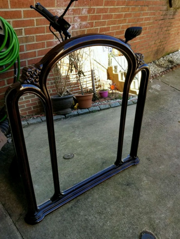 black and blue metal frame