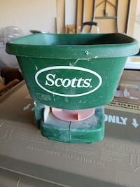 green and white scotts plastic case