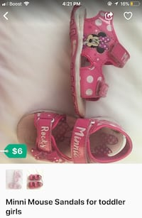 Minnie mouse sandals for toddlers
