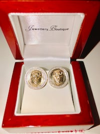Authentic Diamond & Gold Versace Earrings !