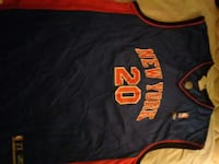 black and red New York 20 basketball jersey 312 mi