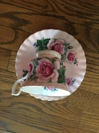 white and pink floral ceramic plate Toronto, M6J 0A6
