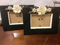 white and green floral photo frame Hoover