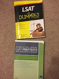 LSAT study books. Price is for both Cockeysville