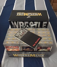 """Vintage Collectable WWF Wrestlemania 1-15 """"The Legacy"""" Complete  Mississauga, L5N 4L7"""