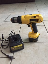 yellow and black DeWalt cordless hand drill Houston, 77084
