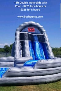 18ft Double Waterslide with Pool