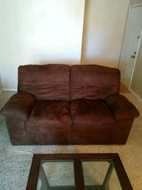 brown suede 3-seat sofa Austin, 78728
