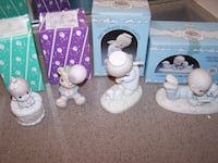4 VINTAGE 1980's PRECIOUS MOMENTS FIGURINES - members only Vaughan