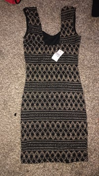 Black and gold sequence dress from body central  Midwest City, 73110