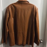 Leather 3/4, jacket/coat. This would look great with jeans size 20 Calgary, T3B 1K5