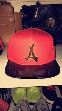 Red and black fitted cap San Diego