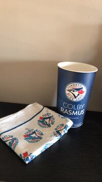 Official Blue Jays Handkerchief and Cup 2 for 5$  Oakville, L6H 6Y1