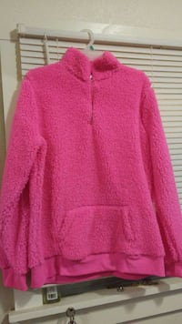 pink zip-up jacket. XL