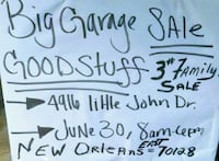 white and black text print New Orleans, 70127