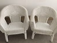 Two white wicker armchairs Vaughan, L6A 1E8