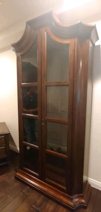 Curio cabinet with lights