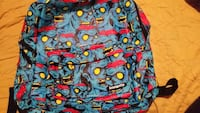 blue and red Zombie printed backpack Rome, 13440