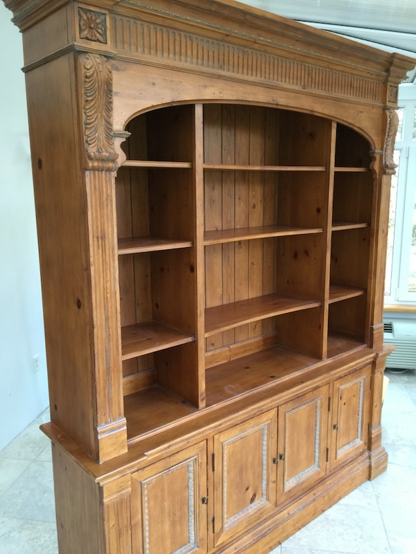 Ethan Allen Legacy French Country Triple Arch Bookshelf