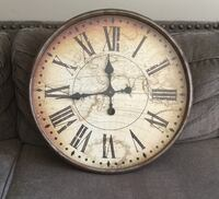 round white and brown analog wall clock Danville, 94526