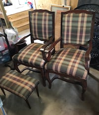 Two antique chairs and a footstool $75.00 Nederland, 77627