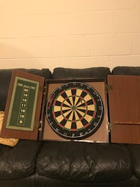 Dart Board with Cabinet