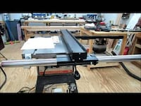 10 inch table saw. 10 inck compound mitre saw, jig say, stand and ect null