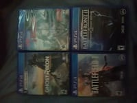 four assorted PS4 game cases Yakima, 98908