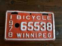 1978 bicycle plate Georgina, L0E 1L0