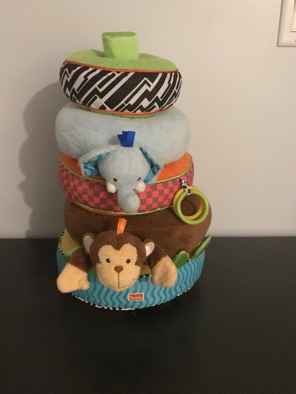 Fabric Stacking toy for babies in good condition. b44016b9-c3ba-447a-9902-c94ed2982128