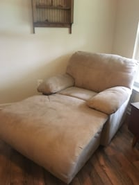 brown suede 2-seat sofa WASHINGTON