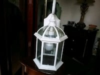 white and brown wooden framed glass table lamp Brampton, L6S 2B3
