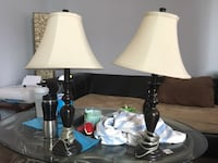 two white and black table lamps Brantford, N3R 2C9