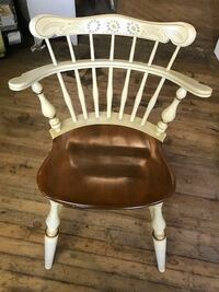 1950's French Country White Ethan Allen Comb Back Chair Glen Arm