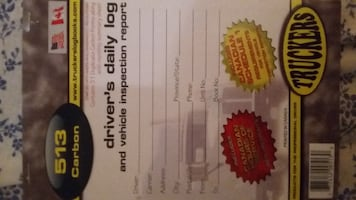CARBON DRIVER'S DAILY LOG & VEHICLE INSPECTION BOOK