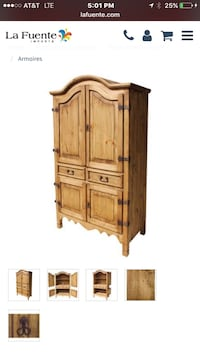 Solid pine wood armoire/cabinet Fresno
