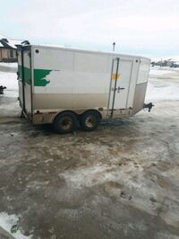 white and gray enclosed trailer Spruce Grove, T7Y 1A3