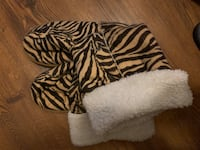 Warm-striped booties size 10