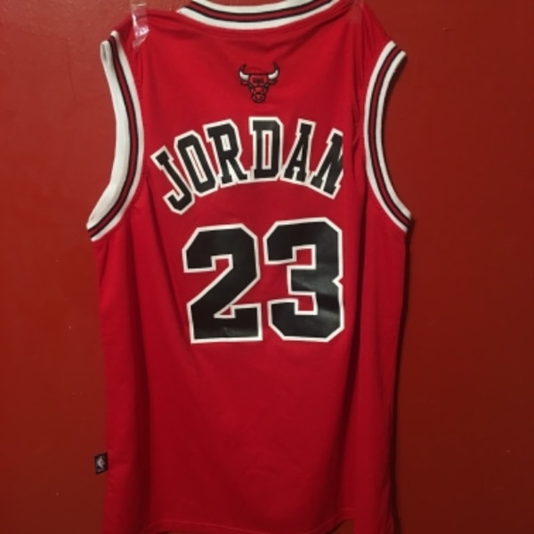 b978eb80387b1d Used red and black Chicago Bulls Michael Jordan 23 basketball jersey for  sale in NEWYORK - letgo