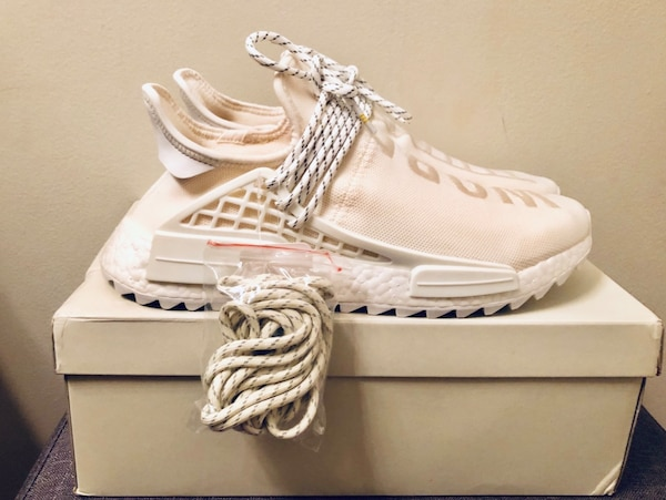 competitive price 16d69 6886a *Never Worn*Authentic Pharrell x NMD Human Race Trail 'Blank Canvas' Adidas!