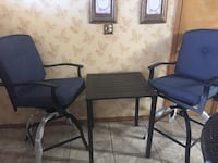 3-Piece Swivel High Bistro Set, Seats 2 El Paso