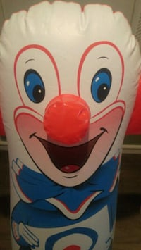 Bozo the clown punching bag with gloves Winnipeg, R2L 0X1