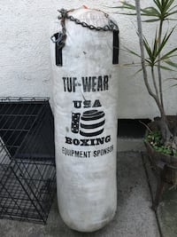 white and black USA heavy bag